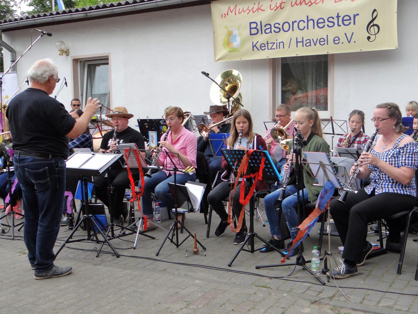 Konzert an Himmelfahrt 2017 mit der Ketziner Stadtpfeife